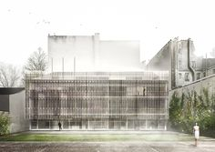 Gallery of Tomas Ghisellini Architects Propose Shimmering Extension to the Italian Institute of Culture in Paris - 1