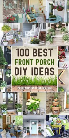 Summer Front Porches, Small Front Porches, Farmhouse Front Porches, Summer Porch, Decks And Porches, Small Patio, Small Porch Decorating, Patio Decorating Ideas On A Budget, Diy On A Budget
