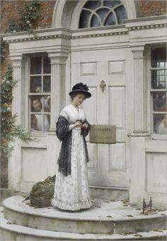 the-new-governess-Edmund-Blair-Leighton