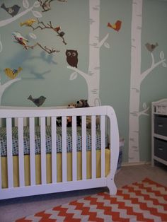 nursery corner 3 - love the mix of modern, vintage, and DIY