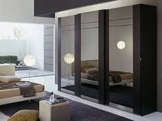 wardrobe designs using lacquered glass for bedroom - Google Search