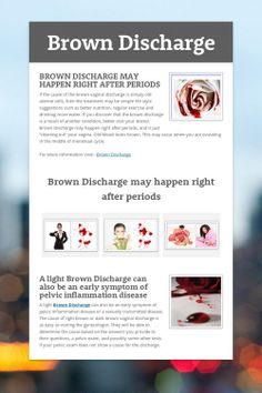 Although many pregnant women could have brown discharge during ...