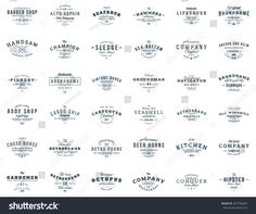 Set of vintage retro logotype templates. Collection of 36 items. Black and gray colors Running Club, Vector Logo Design, Black And Grey, Gray, Life Savers, The Body Shop, Badges, Design Elements, Retro Vintage