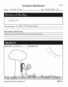Emotion worksheet..great idea