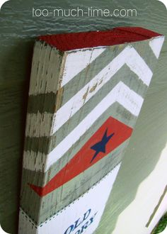 DIY Patriotic Sign - Xmas gift for all the patriotic peeps in my fam