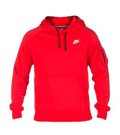 NIKE CLOTHING MENS NIKE ACE FLEECE PULLOVER HOODIE Medium Red