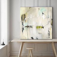 Abstract Painting gray abstract canvas grey abstract decor
