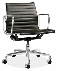 For the Home Office: Eames® Aluminum Group Leather Multipurpose Chairs - Office Chairs - Office - Room & Board