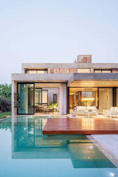 Passive House Design, House Front Design, Modern Villa Design, Modern Architecture Design, Home Building Design, Modern Mansion, Luxury Homes Dream Houses, Dream House Exterior, Dream Home Design