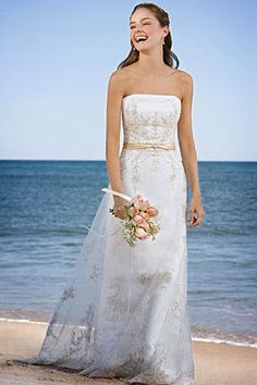 Tropical themed wedding on pinterest tropical weddings for Beach themed wedding dress