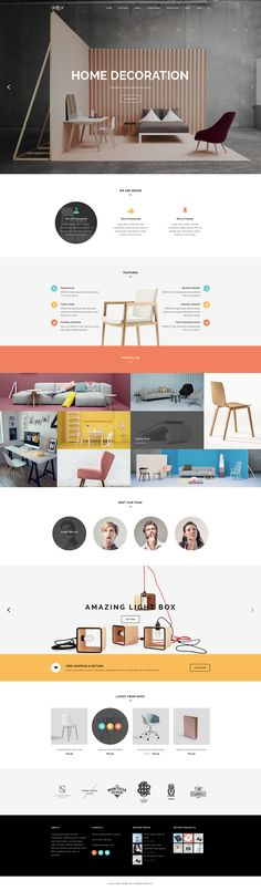 deKor – Interior WP Template on Inspirationde Website Header Design, Homepage Design, Web Ui Design, Web Design Trends, Blog Layout, Website Layout, Web Layout, Web Inspiration, Architecture Websites