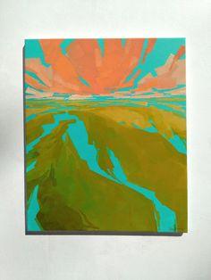 Bursting Forth 2 16x20 inch original fine art by GreenAcreArts