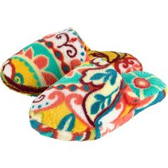 Vera Bradley Cozy Slippers ($21) ❤ liked on Polyvore
