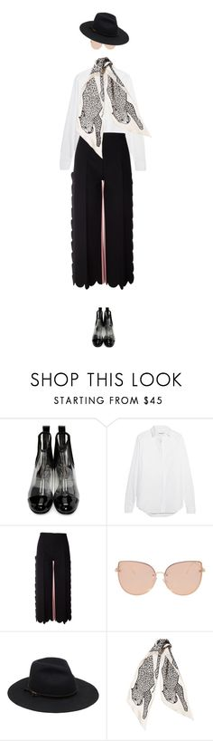 """""""eva1296"""" by evava-c ❤ liked on Polyvore featuring Comme des Garçons, Yves Saint Laurent, MSGM, Topshop and Marc Jacobs"""