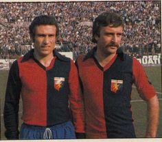 Damiani 7 e Pruzzo 9 Genoa Football, Genoa Cfc, You'll Never Walk Alone, Men Sweater, Cricket, Grande, Club, Sports, Red