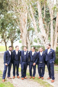 Navy Suits + Brown Shoes | Photo: George Street Photo & Video.