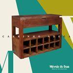 Carrinho Adega Móveis do Bem, seus convidados escolhem o vinho, onde quer que estejam. http://www.moveisdobem.com/portfolio-item/carrinho-adega/