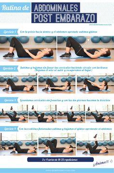 Rutina de ejercicios para el post parto. Ayudará a las mamás a recolocar la barriga y a tonificarla. También la puede utilizar todo el mundo porque es muy efectiva.
