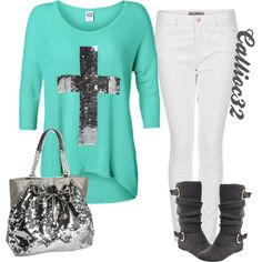 Cross shirt, created by callico32 on Polyvore