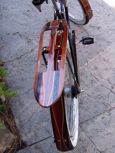 Awesome handmade rack by Woodys Fenders Wooden Bicycle, Wood Bike, Push Bikes, Cargo Bike, Bicycle Parts, Classic Bikes, Bicycle Design, Bike Accessories, Vintage Bicycles