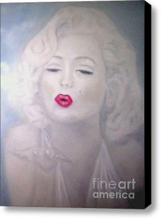 Blowing Kisses - Marilyn Monroe Stretched Canvas Print / Canvas Art By Alexi Angelino. http://fineartamerica.com/profiles/alexi-angelino.html