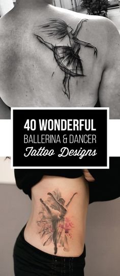 40 Wonderful Ballerina & Dancer Tattoo Designs   TattooBlend
