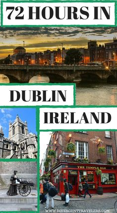 72 hours in Dublin Ireland - 3 Days in Dublin – Things to Do in Dublin. This itinerary will show you how to make the most out of your time there. You'll visit some of the most famous places in the city while also going to lesser-known areas. Click to read more #Dublin #Ireland #TravelGuide #Itinerary