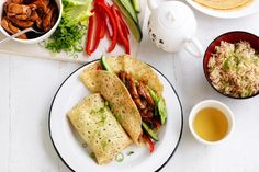 Chinese chicken crepes