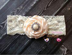 Ivory headband ivory lace headband newborn by MyLilSweetieBoutique, $11.95