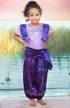 Shimmer & Shine Inspired Genie Costume, Birthday Party Outfit, Purple Shimmer Genie, Girl's Princess Costume, High Quality
