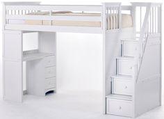 School House Stair Loft Bed
