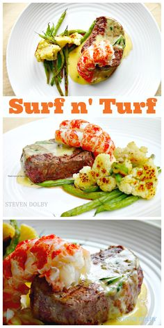 Filet Mignon  Lobster Tail With Bearnaise Sauce...Must make this for my husband he would love it!