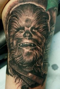 Chewbacca tattoo - Freehand by Chris Reynolds at Modern Body Art Tattoo in Albany NY