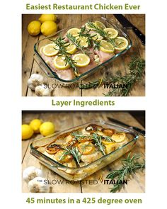 EASIEST EVER RESTAURANT CHICKEN - Rosemary Lemon Roasted Chicken Breasts #chicken #recipes #easy