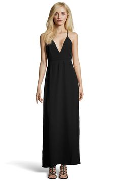 Boutique Hannah Strappy Low V Neck Maxi Dress at boohoo.com
