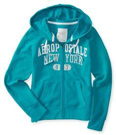 Aero Sparkle New York Full-Zip Hoodie - Aeropostale
