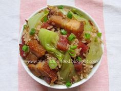 Annielicious Food: Chinese Mustard Green Flavorful Mixed Rice (芥菜饭)