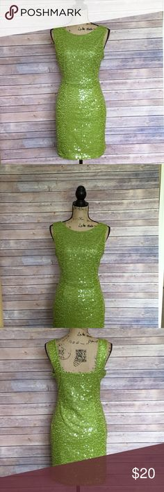 Marc New York Sequin Dress Size 8 Marc New York Green Sequin Dress In like new condition. No signs of wear or fading. Marc New York Dresses