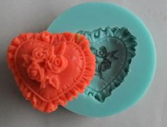 Love 3D Rose Flower Fondant Cake Chocolate Sugarcraft Mold Cutter Silicone Tools #Sugarcraft