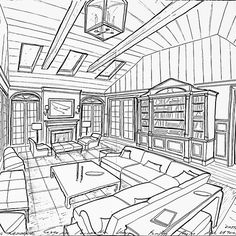 Concept sketch for a family room space for a project #GarrowKedigian #Interiors #InteriorDesign #FamilyRoom #FamilyRooms #Sofa #SectionalSofa #Sofas #CoffeeTable  #Drawings #Drawing #HandDrawn #Concept #ConceptSketch #FurniturePlan #FurnitureLayout #LayoutPlan #ceilingbeams #FrenchDoors #BuiltInCabinetry #BuiltInBookcase #BuiltInCabinet #newyork #newyorkhomes #newyorkdesign #long island #longislandhomes #longislanddesign #lantern #fireplace