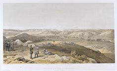 ' Valley of the Tchernaya,' by William Simpson, 1854 (lithograph). William Simpson (1823-99) was a Scottish painter who became noted for his depictions of the Crimean War (1853-6)