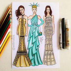 Landmark dresses