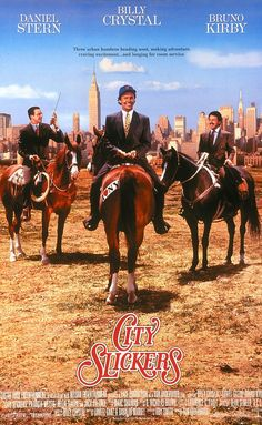 Directed by Ron Underwood.  With Billy Crystal, Jack Palance, Daniel Stern, Bruno Kirby. On the verge of turning 40, an unhappy Manhattan yuppie is roped into joining his two friends on a cattle drive in the southwest.