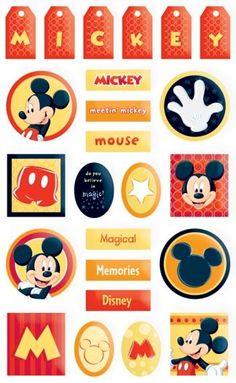Mickey Tags Gem Sticker | Beaverbrook Crafts