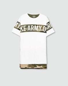 Pull&Bear - hombre - camisetas - camiseta print camuflaje - blanco roto - 09239539-I2016