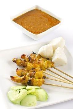 #recette des brochettes de poulet Malaisiennes à la sauce satay