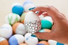 Make your Easter eggs pop with sparkly jewels.