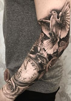 Tattoos Men-in-arm 53 Source by Dove Tattoos, Forarm Tattoos, Arm Sleeve Tattoos, Baby Tattoos, Tattoo Sleeve Designs, Forearm Tattoo Men, Leg Tattoos, Body Art Tattoos, Half Sleeve Tattoos For Men