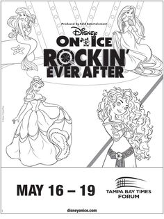 One rockin' coloring sheet for Disney On Ice presents Rockin' Ever After.      #Disney #Princess