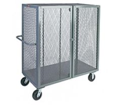You are buying one Jamco 1 Shelf Mesh Security Truck. This cart comes in a variety of sizes which can be seen below. The casters can be Phenolic, Rubber, or Urethane. If you have any questions or need a shipping quote please feel free to contact us. Mobile Storage, Cabinets For Sale, Steel Mesh, The Ordinary, Furniture Design, Shelves, Gates, Cart, Shelving